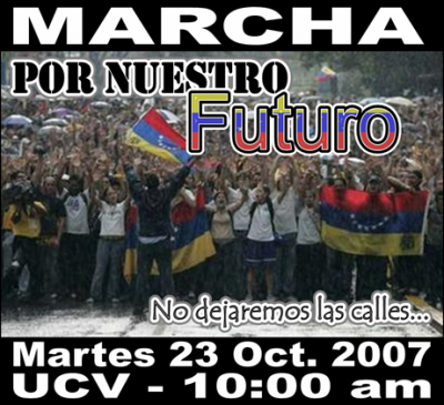 Gran Marcha martes 23 de octubre